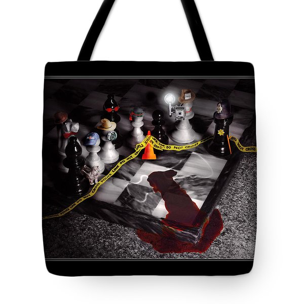 Game - Chess - It's Only A Game Tote Bag by Mike Savad