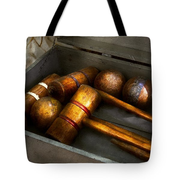 Game - Everyone Loves To Play Croquet   Tote Bag by Mike Savad