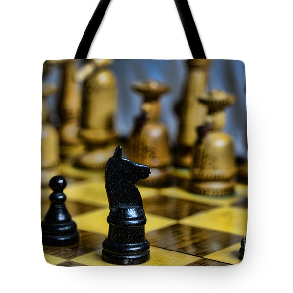Game Of Chess Tote Bag by Paul Ward