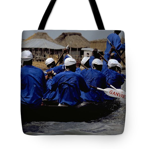 Tote Bag featuring the photograph Ganvie - Lake Nokoue by Travel Pics