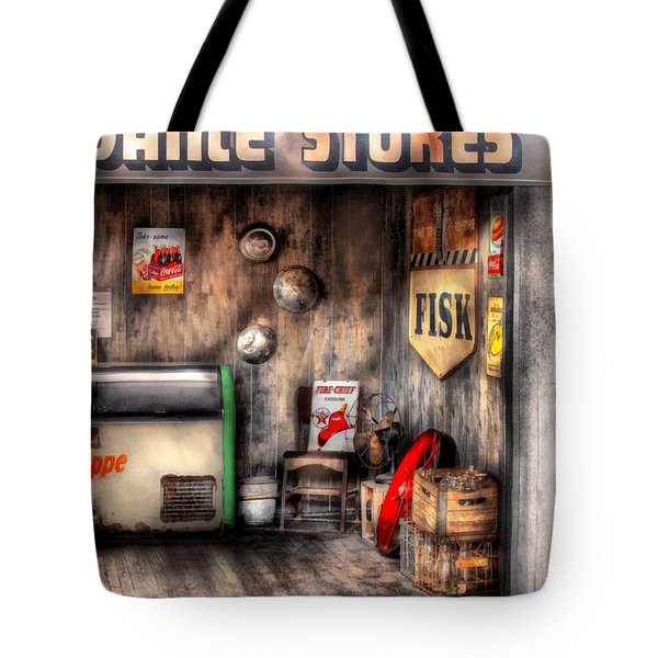 Garage - Advance Stores  Tote Bag by Mike Savad