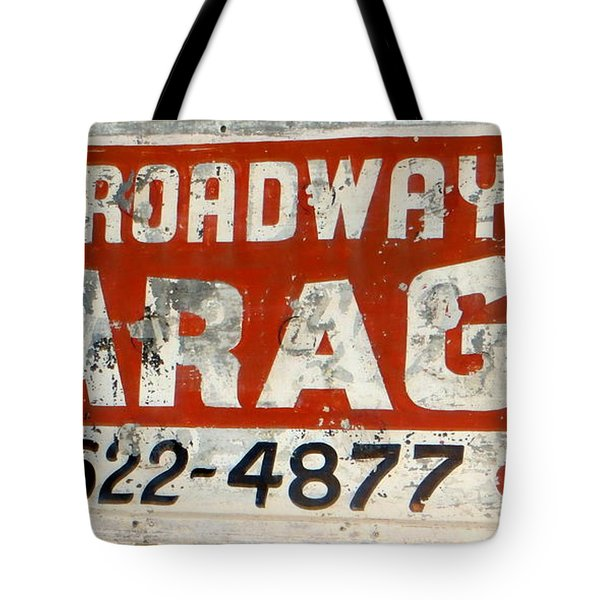 Garage Grunge Tote Bag by Dorothy Menera