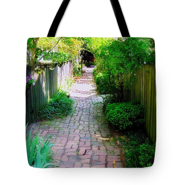 Garden Alley Tote Bag by Brian Wallace