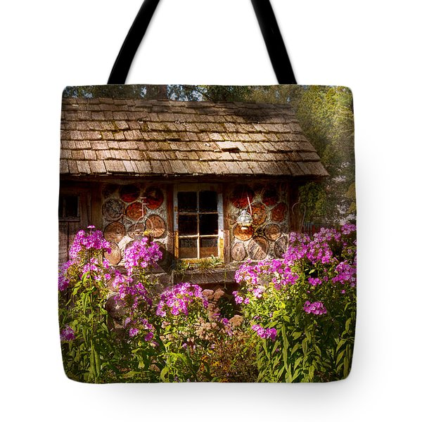 Garden - Belvidere NJ - My little cottage Tote Bag by Mike Savad
