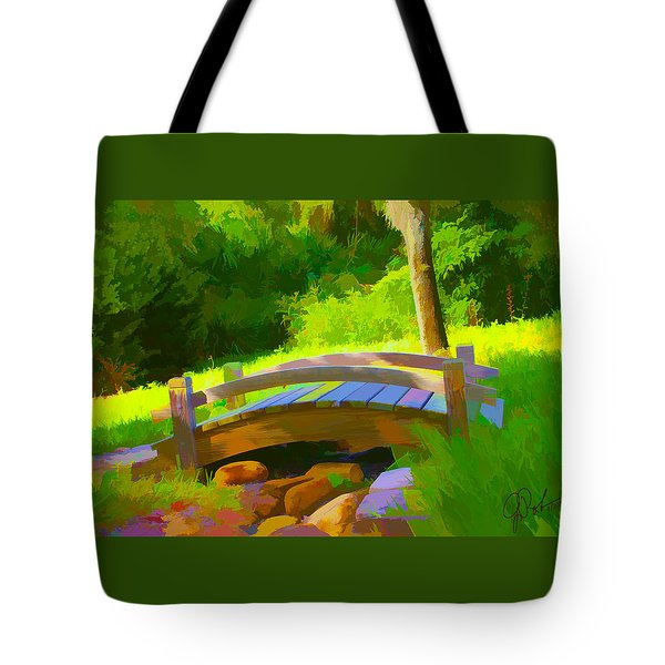 Garden Bridge Tote Bag by Gerry Robins