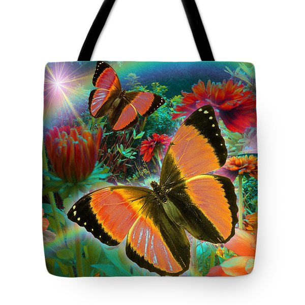 Garden Day Tote Bag by Alixandra Mullins