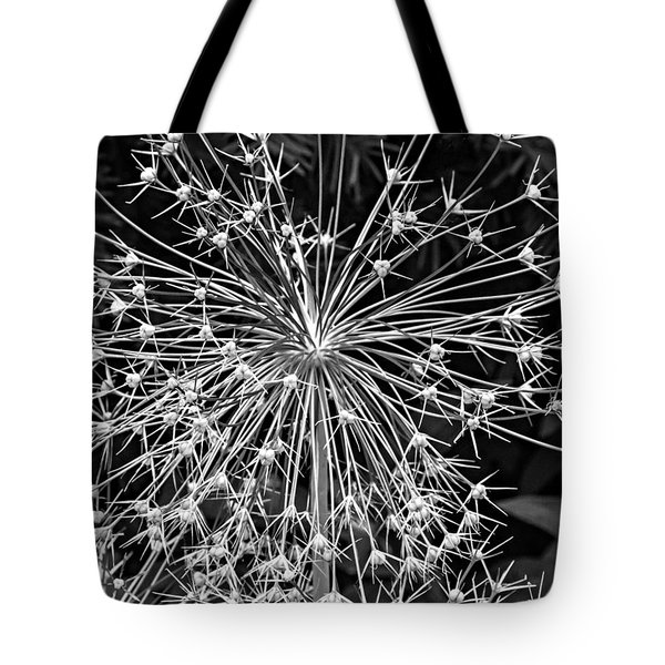 Garden Fireworks 2 Monochrome Tote Bag by Steve Harrington