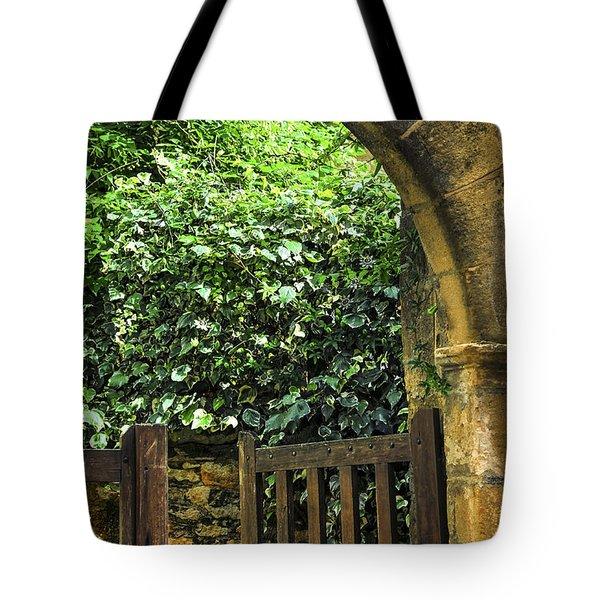 Garden Gate In Sarlat Tote Bag by Elena Elisseeva