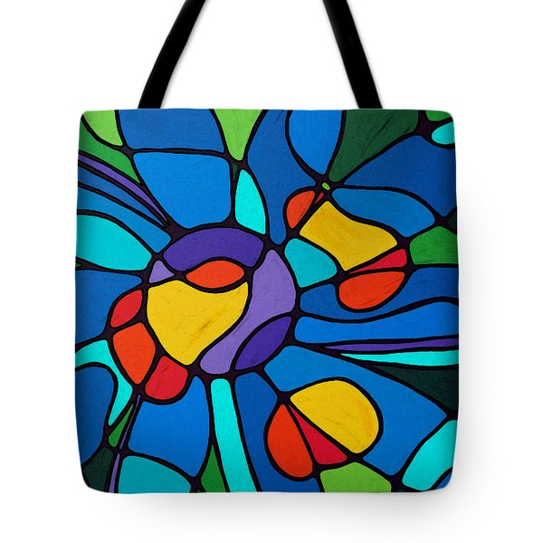 Garden Goddess - Abstract Flower by Sharon Cummings Tote Bag by Sharon Cummings
