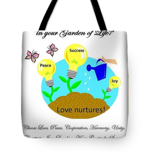 Garden Of Life Tote Bag by Bobbee Rickard