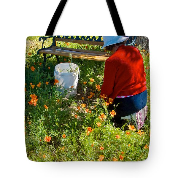 Garden Party In Park Sierra-ca Tote Bag by Ruth Hager