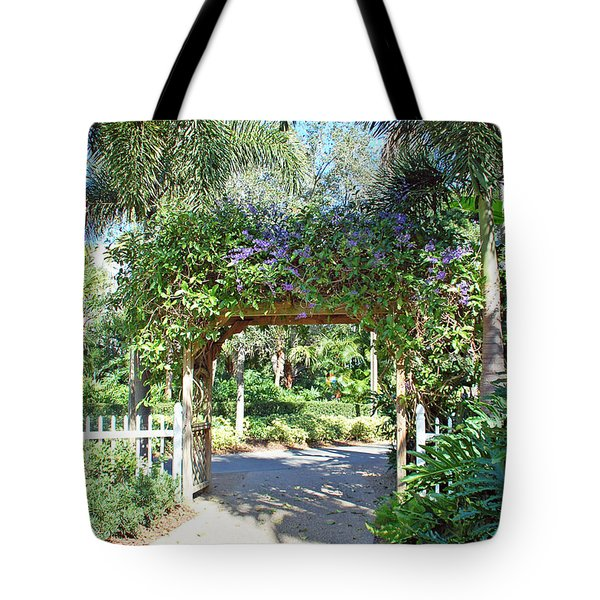 Garden Walkway Tote Bag by Aimee L Maher Photography and Art Visit ALMGallerydotcom