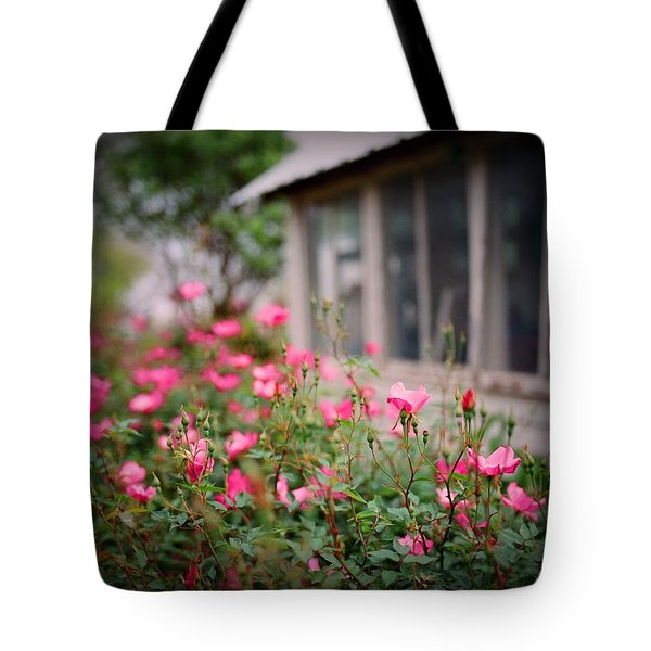 Gardens Of Pink Tote Bag by Linda Unger