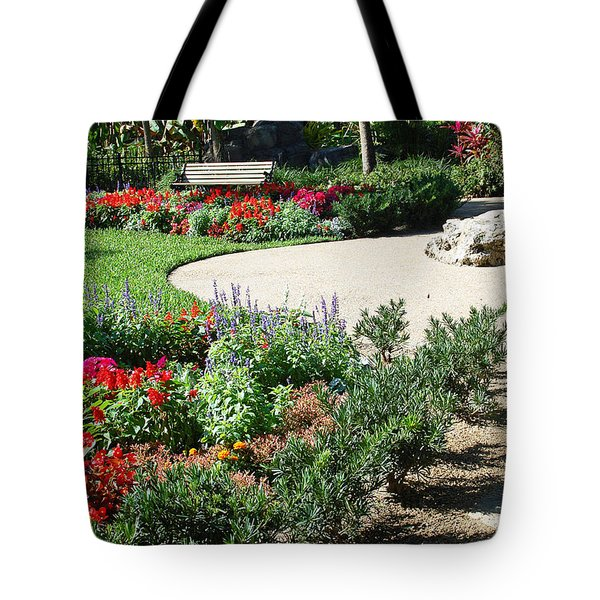 Gardenscape Tote Bag by Aimee L Maher Photography and Art