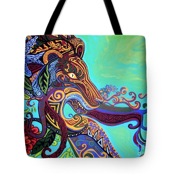 Gargoyle Lion 3 Tote Bag by Genevieve Esson
