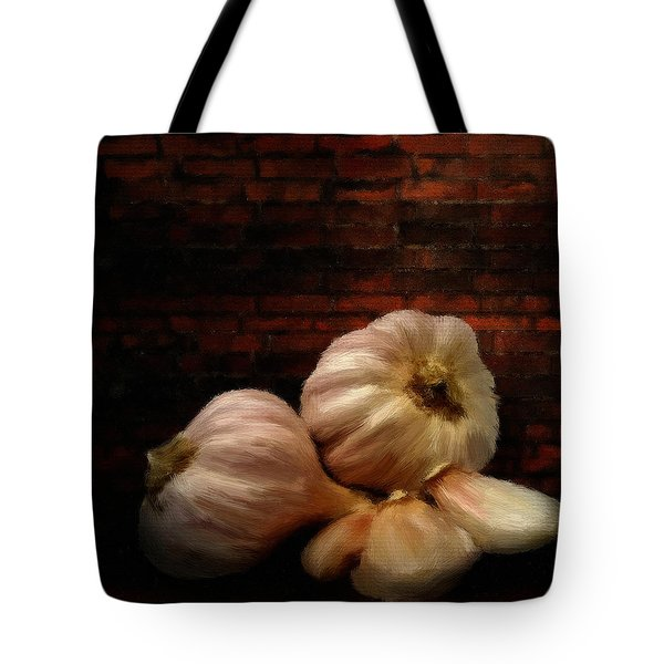 Garlic Tote Bag by Lourry Legarde