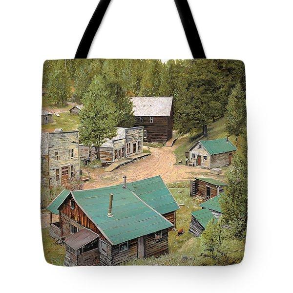 Garnet In Montana Tote Bag by Guido Borelli