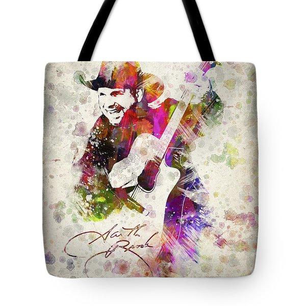 Garth Brooks Tote Bag by Aged Pixel