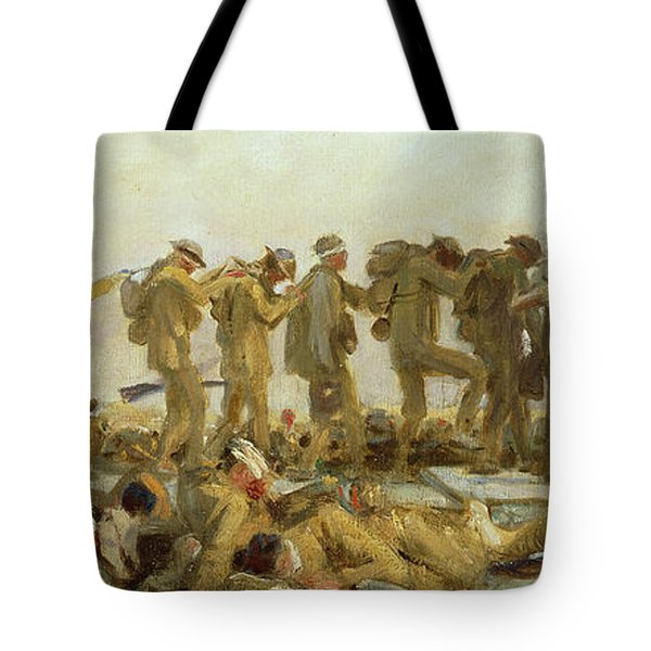 Gassed    An Oil Study Tote Bag by John Singer Sargent