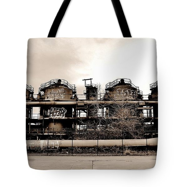 Gasworks Seattle Tote Bag by Benjamin Yeager