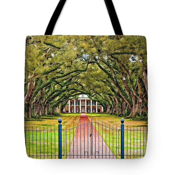 Gateway To The Old South Paint Tote Bag by Steve Harrington