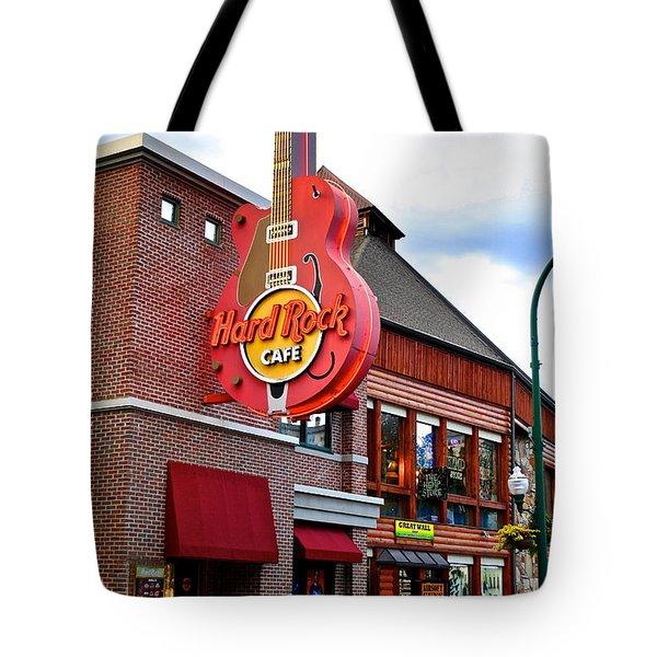 Gatlinburg Hard Rock Cafe Tote Bag by Frozen in Time Fine Art Photography