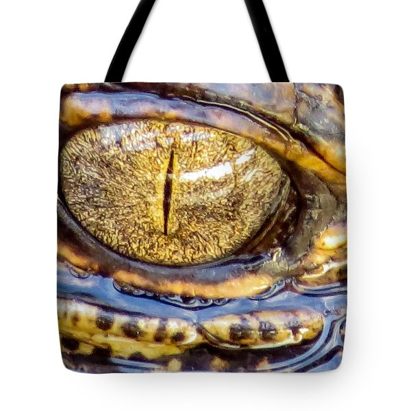 Gator Baby's Eye Tote Bag by Zina Stromberg