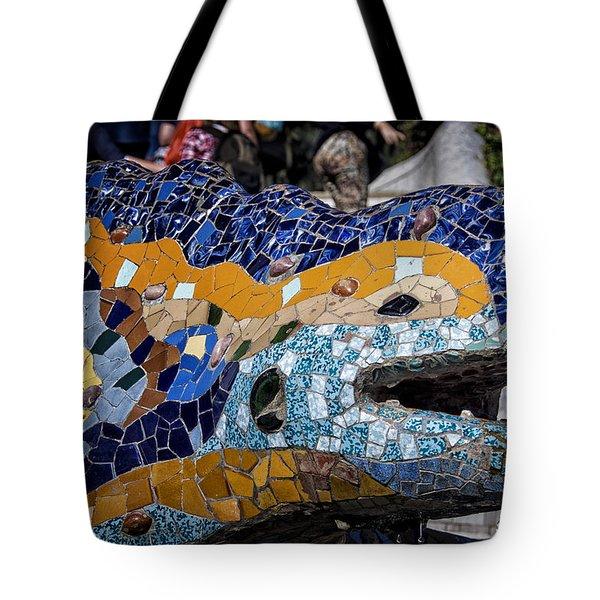 Gaudi Dragon Tote Bag by Joan Carroll