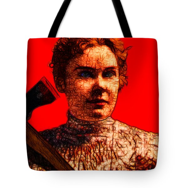 Gave Her Father Forty Whacks - Red Tote Bag by Wingsdomain Art and Photography