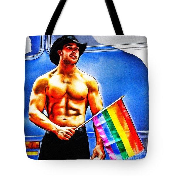 Gay Pride Tote Bag by Nishanth Gopinathan
