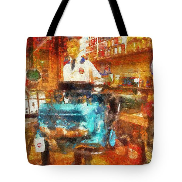 Gearhead Workshop Photo Art Tote Bag by Thomas Woolworth