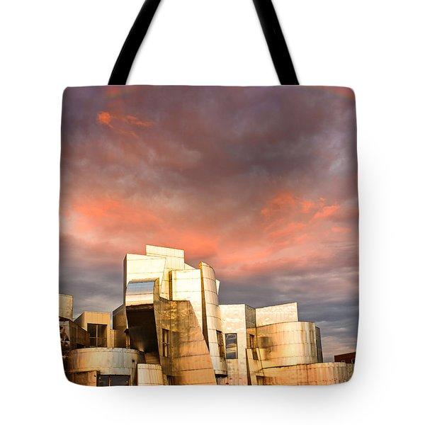 Gehry Rainbow Tote Bag by Joe Mamer