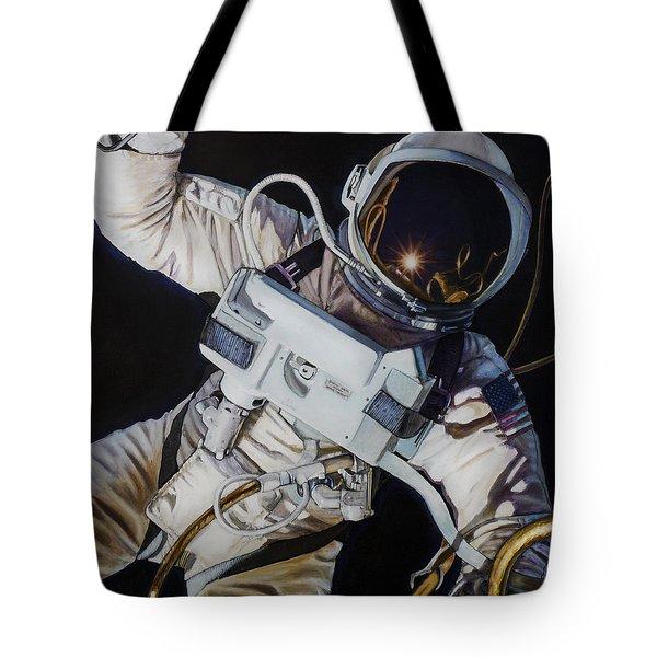 Gemini Iv- Ed White Tote Bag by Simon Kregar