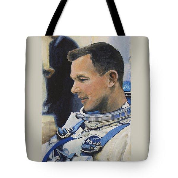 Gemini Viii Dave Scott Tote Bag by Simon Kregar