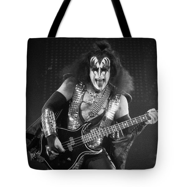 Gene Simmons Tote Bag by Timothy Bischoff