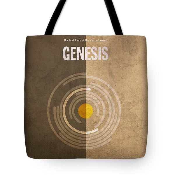 Genesis Books of the Bible Series Old Testament Minimal Poster Art Number 1 Tote Bag by Design Turnpike