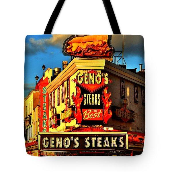 Geno's Tote Bag by Benjamin Yeager