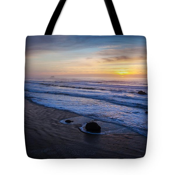Gentle Evening Waves Tote Bag by Mike Reid