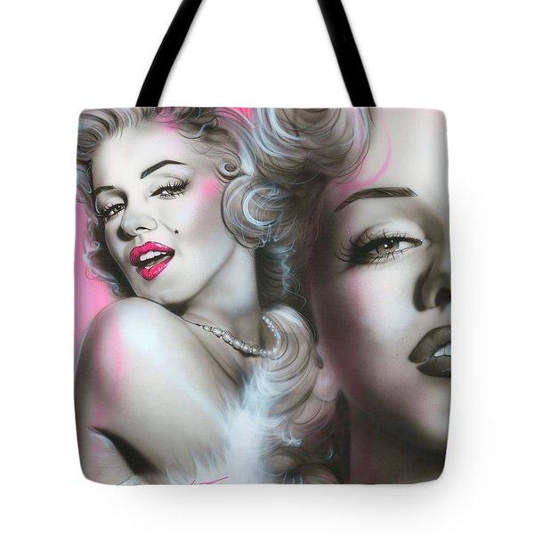 'Gentlemen Prefer Blondes' Tote Bag by Christian Chapman Art
