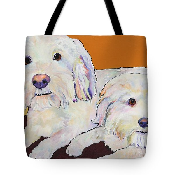 George and Henry Tote Bag by Pat Saunders-White