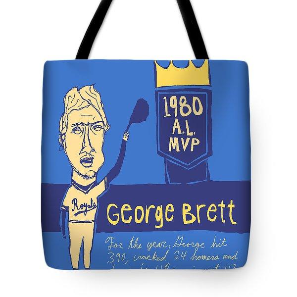 George Brett Kc Royals Tote Bag by Jay Perkins