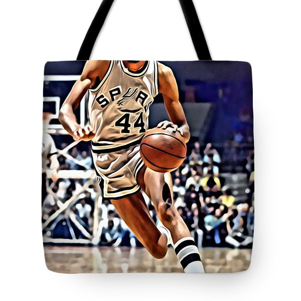 George Gervin Tote Bag by Florian Rodarte