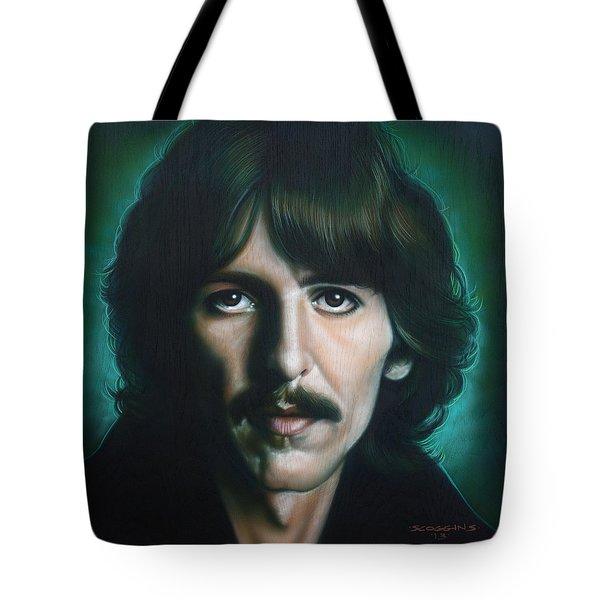 George Harrison Tote Bag by Tim  Scoggins