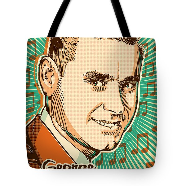 George Jones Pop Art Tote Bag by Jim Zahniser