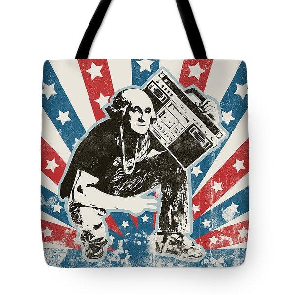 George Washington - Boombox Tote Bag by Pixel Chimp