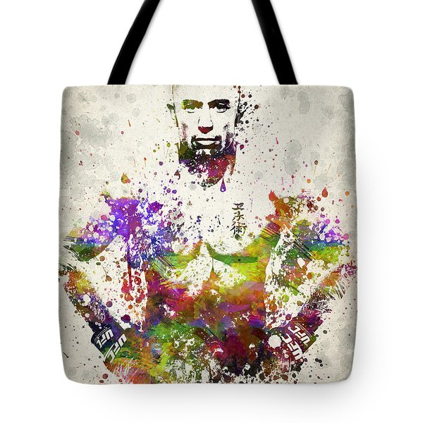 Georges St-pierre Tote Bag by Aged Pixel
