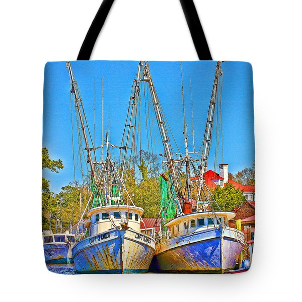 Georgetown Shrimpers Tote Bag by Bill Barber