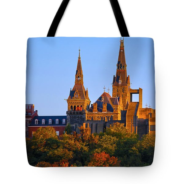 Georgetown University Tote Bag by Mitch Cat