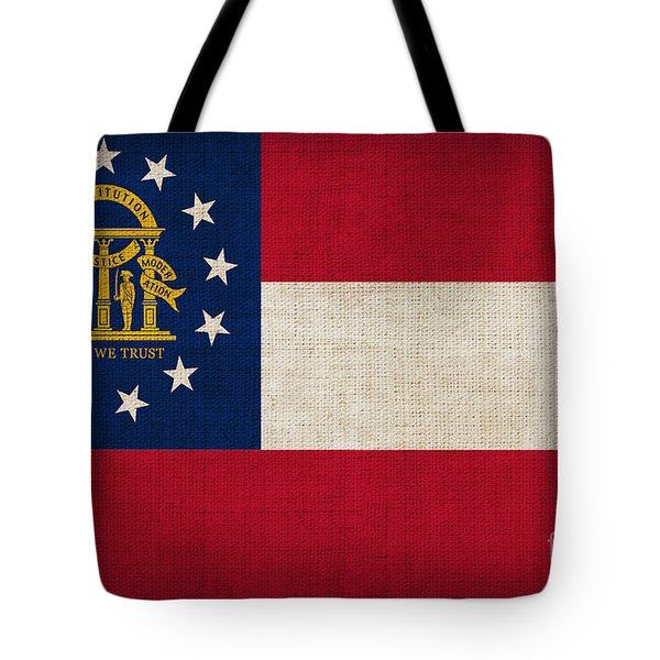 Georgia State Flag Tote Bag by Pixel Chimp