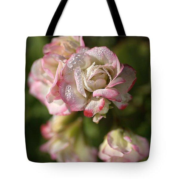 Geranium Flowers Tote Bag by Joy Watson